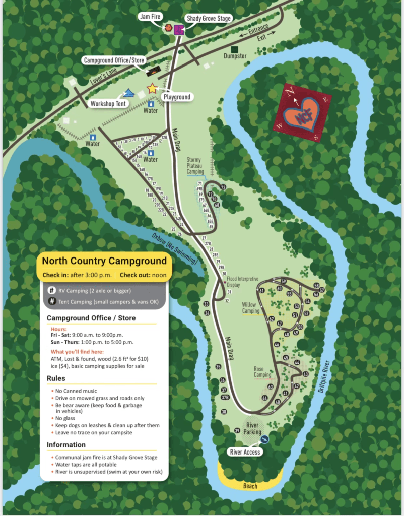 Campground and fair site map